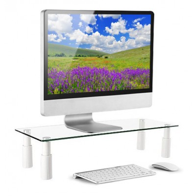 Glass Stand for Monitor / Laptop - Techly - ICA-MS 461E-8