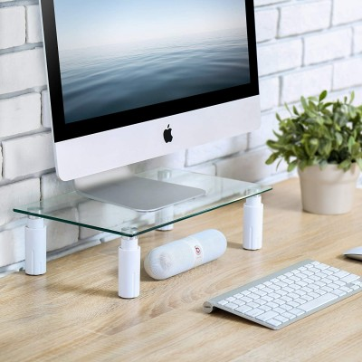 Glass Stand for Monitor / Laptop - Techly - ICA-MS 461E-5