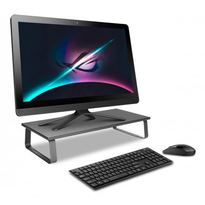 Universal Desk Stand in Steel for Monitor/Laptop - Techly - ICA-MS 600TY-1