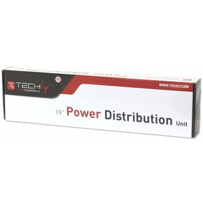 """Rack 19"""" PDU 6 outputs with Surge Protection and Switch - Techly Professional - I-CASE STRIP-13P-1"""