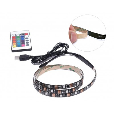 30 LED Strip 2m USB RGB for Backlighting TV A ++ - Techly Np - I-LED-TV-3