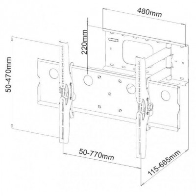 "32""-60"" Wall Bracket for LED LCD TV Tilt and Extensible - Techly - ICA-PLB 109B-2"
