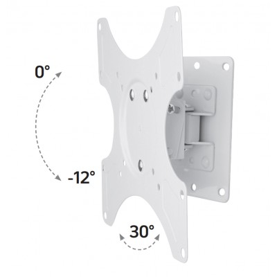 Wall Support for LCD LED 19-37' Tiltable 1 Joint White - Techly - ICA-LCD 2900WH-4