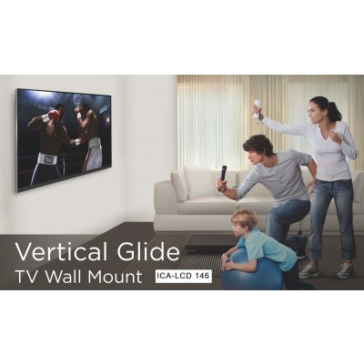 Vertical glide TV wall mount  - Techly - ICA-LCD 146-2