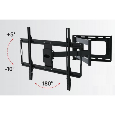 "Slim Wall Mount for 32-70"" LCD LED TV Black - Techly - ICA-PLB 23M-2"