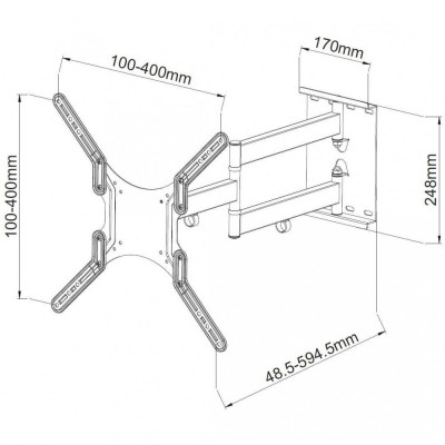 """Ultra Slim Wall Support for LCD LED 23-55"""" White - Techly - ICA-PLB 136MW-4"""