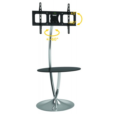 "Floor Support with Round Base and Shelf for LCD/LED TV 32-70"" - Techly - ICA-TR13-1"