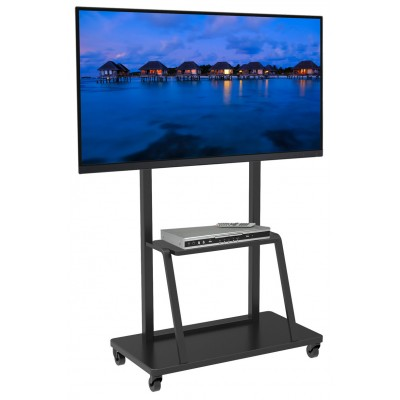 "Floor Stand for LCD/LED/Plasma TV 55-100"" with shelf - Techly - ICA-TR28-0"