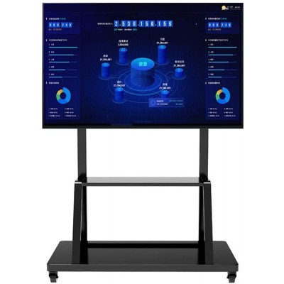 """Multifunction Mobile TV Cart for LED/LCD TV 55-100"""" with shelf - Techly - ICA-TR30-1"""
