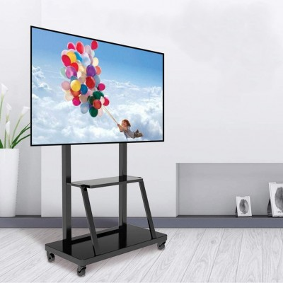 """Multifunction Mobile TV Cart for LED/LCD TV 55-100"""" with shelf - Techly - ICA-TR30-4"""
