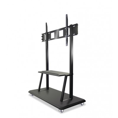 """Floor Support with Shelf for LCD/LED/Plasma TV 55-120"""" - Techly - ICA-TR31-2"""
