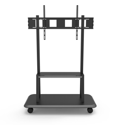 """Floor Support with Shelf for LCD/LED/Plasma TV 55-120"""" - Techly - ICA-TR31-1"""