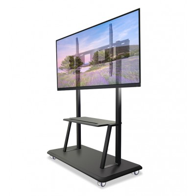 """Floor Support with Shelf for LCD/LED/Plasma TV 55-120"""" - Techly - ICA-TR31-3"""