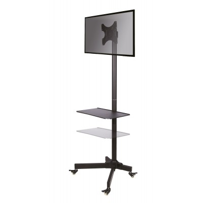 """Trolley Floor Stand LCD/LED/Plasma TV Stand 19""""-37"""" - Techly - ICA-TR20-4"""