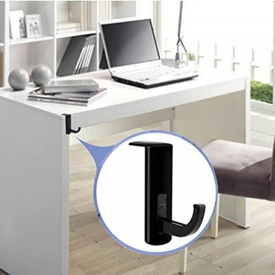Universal Adhesive Headphone Holder for Monitor and Desk Black (2 Pcs) - Techly - ICC SH-HANGTY-11