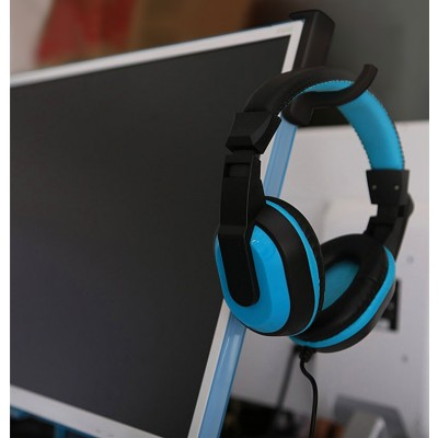 Universal Adhesive Headphone Holder for Monitor and Desk Black (2 Pcs) - Techly - ICC SH-HANGTY-10