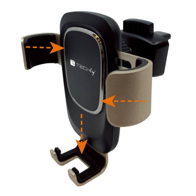 In-Car Smartphone holder with gravity system - Techly - I-SMART-UNI-GRAV-1