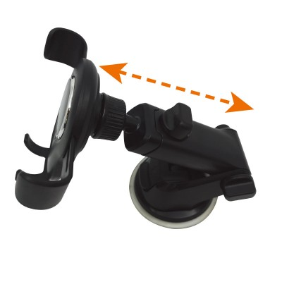 In-car smartphone holder with suction cup and gravity system - Techly - I-SMART-VENT-GRAV-4