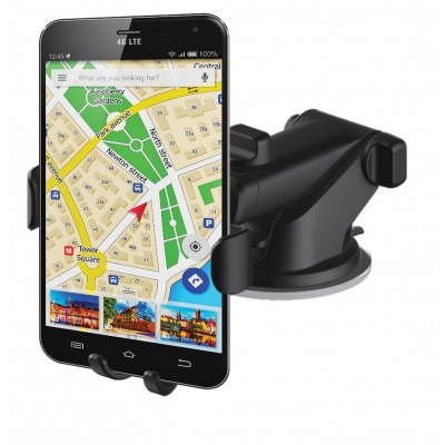 In-car smartphone holder with suction cup and gravity system - Techly - I-SMART-VENT-GRAV-2