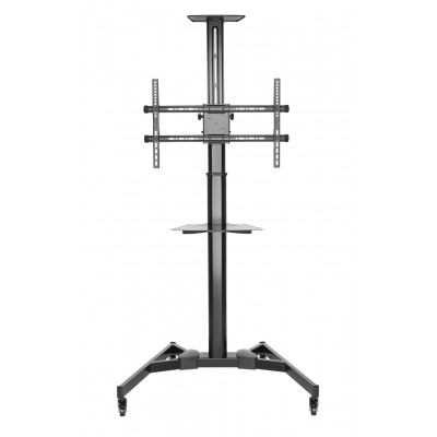 """Floor Support with TV/LED/LCD Shelf 37-70"""" Black - Techly - ICA-TR46-1"""