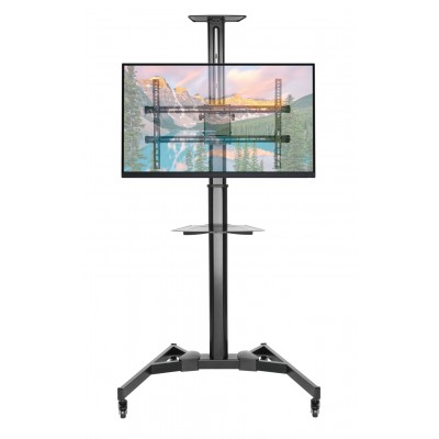 """Floor Support with TV/LED/LCD Shelf 37-70"""" Black - Techly - ICA-TR46-2"""