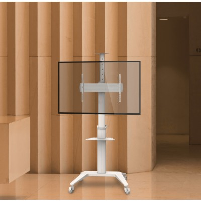 """Floor Stand for TV from 37"""" to 70"""" White - Techly - ICA-TR48W-12"""