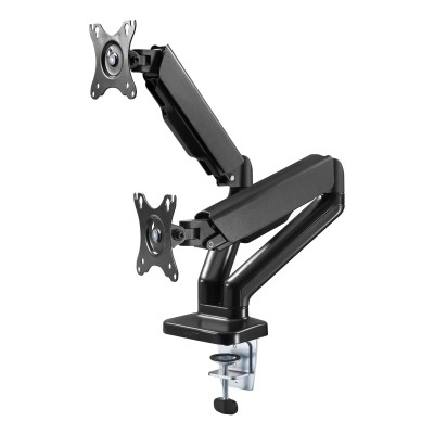 """Double Monitor Desk Stand 17-32"""" with Gas Spring Black - Techly - ICA-LCD 462B-4"""