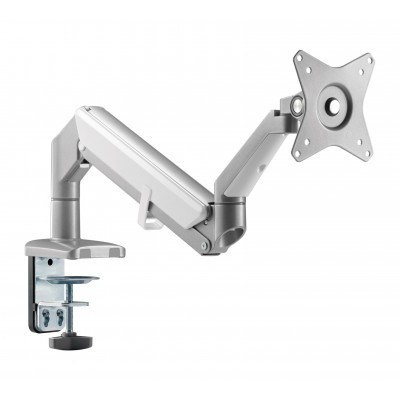 """Desk stand for 17-32"""" monitor  with Gas Spring White Silver - Techly - ICA-LCD 441-1"""