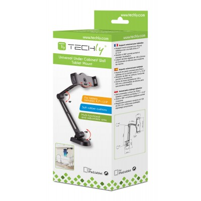 """Wall Extensible Support for Tablet and iPad 4.7""""-12.9"""" - Techly - ICA-TBL 2802-2"""
