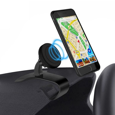 Car Magnetic Mount Holder for Smartphone - Techly - I-SMART-HUD-3