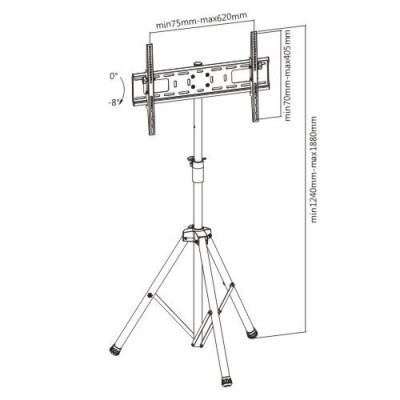 "Universal Floor Stand Tripod for TV 37-70"" - Techly - ICA-TR17T-5"