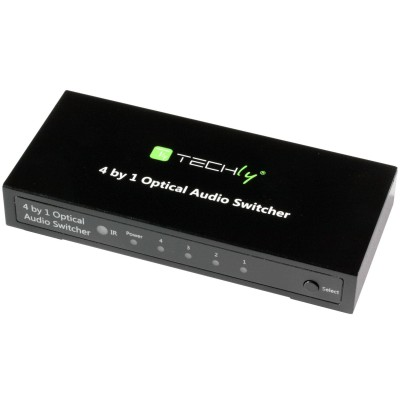 Switch Audio Toslink 4 ports with IR Remote Control - Techly - IDATA TOS-SW4-1