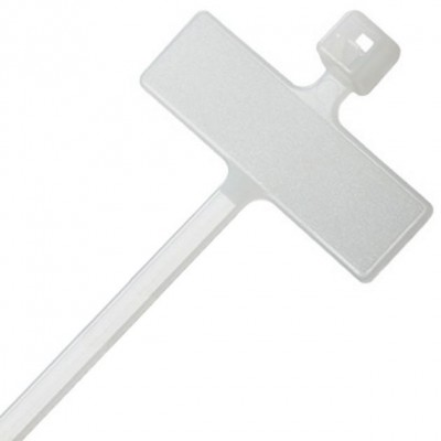 Cable Tie With Nameplate 100X2,5mm 100 pcs White - Techly - ISWT-959-2