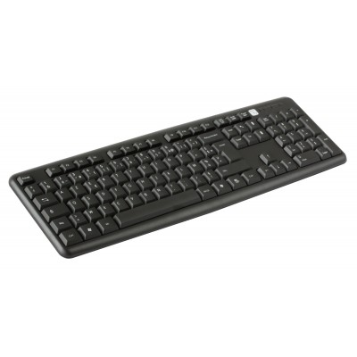 USB Keyboard 104 keys French Layout Black - Techly - IDATA 955-UBK-FR-2