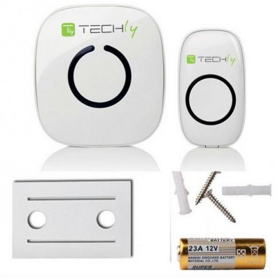 Wireless Doorbell with Remote Control up to 300 m - Techly - I-BELL-RING01-13
