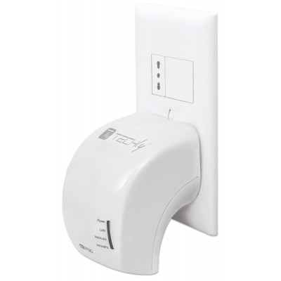 Wall Plug WiFi Mini Router 750Mbps Dual Band Repeater5 - Techly - I-WL-REPEATER5-4