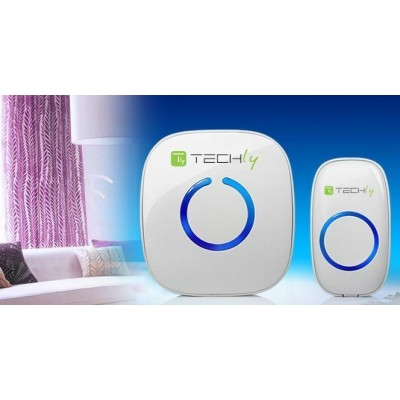 Wireless Doorbell with Remote Control up to 300 m - Techly - I-BELL-RING01-9