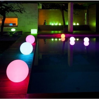 Decorative Multicolor LED Lamp Medium Sphere  - Techly - I-LED BALL-M-4