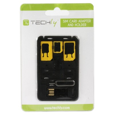Micro SD USB Reader with SIM Card Adapter - Techly - I-SIM-5-1