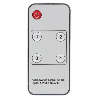 Switch Audio Toslink 4 ports with IR Remote Control - Techly - IDATA TOS-SW4-6