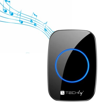 Remote Control for Wireless Doorbell up to 300m Additional Transmitter - Techly - I-BELL-RING04T-4