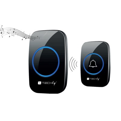 Remote Control for Wireless Doorbell up to 300m Additional Transmitter - Techly - I-BELL-RING04T-1