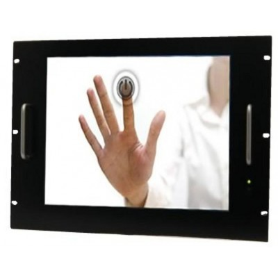 "Rack LCD Monitor 21.5"" Touch Screen 19"" 8 Units Black - Techly Professional - I-CASE MONI-21BK-1"