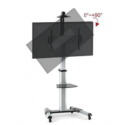 "Floor Support Trolley for LCD / LED / Plasma 37-70"" with Shelf  - Techly - ICA-TR15-1"