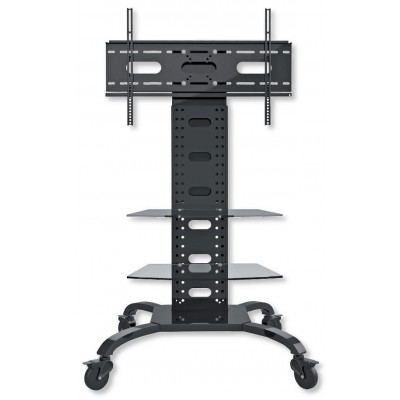 "Trolley Floor Support with 2 Shelves LCD / LED / Plasma 32-70"" - Techly - ICA-TR8-1"