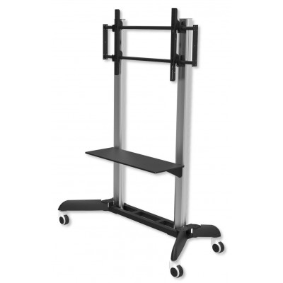 "Trolley Floor Support for LCD / LED / Plasma 32-70"" with Shelf - Techly - ICA-TR9-1"