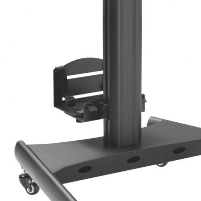 """Floor Trolley with Shelf and CPU Holder for 2 LCD/LED/Plasma TVs 13-32"""" - Techly - ICA-TR42-9"""