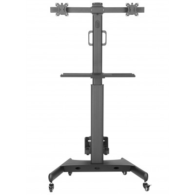 """Floor Trolley with Shelf and CPU Holder for 2 LCD/LED/Plasma TVs 13-32"""" - Techly - ICA-TR42-3"""