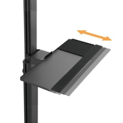 """Floor Trolley with Shelf and CPU Holder for 2 LCD/LED/Plasma TVs 13-32"""" - Techly - ICA-TR42-10"""