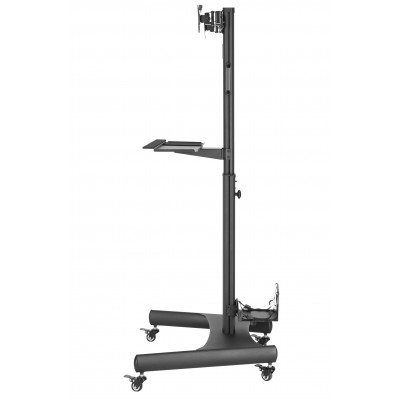 """Floor Trolley with Shelf and CPU Holder for 2 LCD/LED/Plasma TVs 13-32"""" - Techly - ICA-TR42-5"""